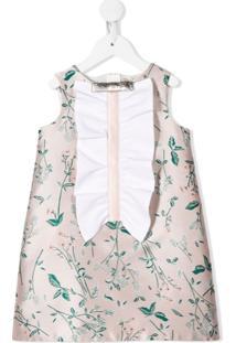 Hucklebones London Vestido Reto Com Estampa Floral - Rosa