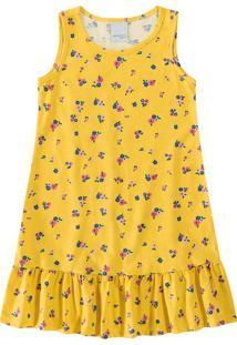 Vestido Peplum Estampado Infantil Malwee Kids