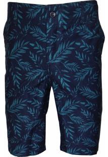 Bermuda Sport Brazil Vancouver Estampado Jeans/Verde - Kanui