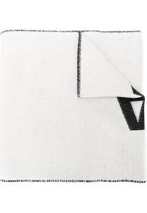 Balenciaga Cachecol Balenciaga Macro - Branco