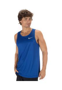 Camiseta Regata Nike Dry Miler Tank - Masculina - Azul