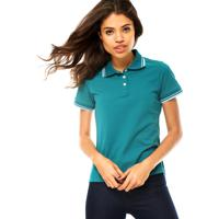 d30a13c693 Camisa Polo Manga Curta Cativa Basic Verde