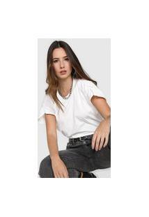 Camiseta Colcci Franzido Branca