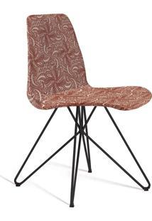 Cadeira Eames Base Aço Carbono Daf Bege/Marsala