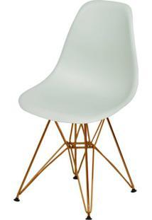 Cadeira Eames Polipropileno Verde Claro Base Cobre - 49370 - Sun House