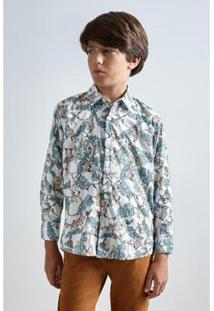 Camisa Infantil Liberty Tree Reserva Mini Masculina - Masculino-Branco