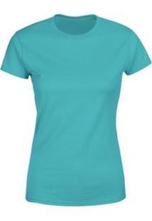Camiseta Goup Supply Lisa Básica Premium 100% Algodão Feminina - Feminino-Verde Claro