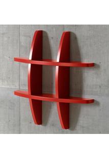 Prateleira Decorativa Pequena Taylor 600 Vermelho - Maxima