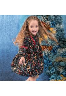 Vestido Infantil Nanai Tricoline Viscose 600386.9010.1