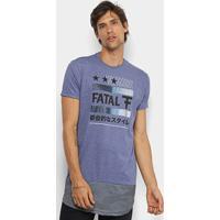 Camiseta Fatal Dry Alongada Masculina - Masculino-Azul Escuro 2eb63dcd5e3