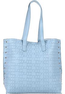 8e0e55d1a Bolsa Colcci Shopper Croco Tachas Feminina - Feminino-Azul Claro