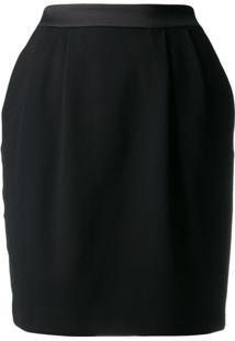 Karl Lagerfeld Camiseta Com Acabamento De Cetim - Preto