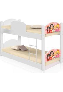 Beliche Infantil Princesas Medievais Com 2 Colchãµes Casah - Branco/Multicolorido - Menina - Dafiti