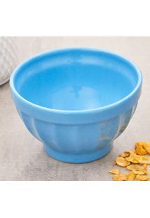 Tigela Bowl De Cerâmica Retrô 570Ml Azul Azul