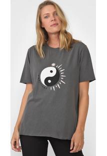 Camiseta Cantão Boyfriend Equilibrio Grafite - Kanui