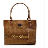 839ef786a Bolsa Victor Valencia V13 - Feminino-Marrom