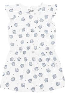 Vestido Tricae Por Just Lia Conchas Branco - Tricae