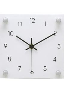 231b759b487 Relógio Analógico De Mesa- Branco   Preto- 19X19X4