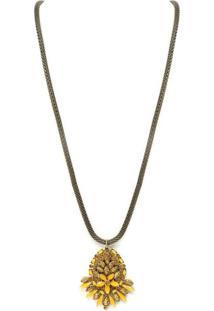 Colar Armazem Rr Bijoux Longo Pedra Amarela - Tricae