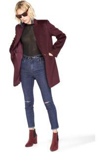 Calça Jeans Skinny Detalhe Silk