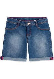 Bermuda Jeans Infantil Menina Hering Kids