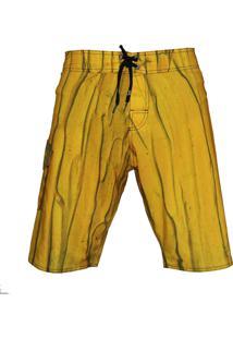 Bermuda Tecido Alkary Amarelo - Amarelo - Masculino - Elastano - Dafiti