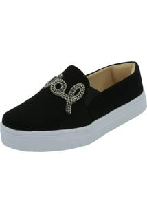 Tenis Hope Shoes Slipper Pedraria Love Preto - Preto - Feminino - Dafiti