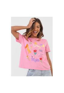 Camiseta Desigual Rubens Rosa