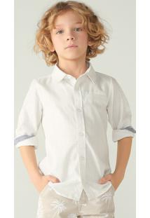 Camisa Menino Em Tecido De Algodão