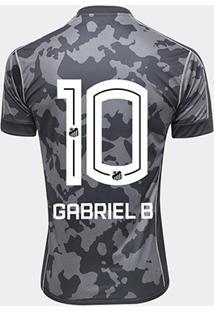 Camisa Santos Iii 17/18 Nº 10 Gabriel B - Torcedor Kappa Masculina - Masculino