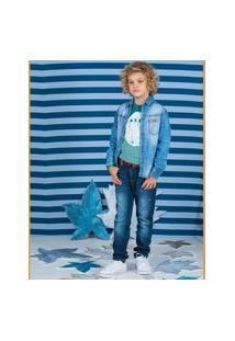 Camisa Jeans Kids Camisa Jeans Kids Jeans 14