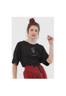 Camiseta Colcci Minnie Preta