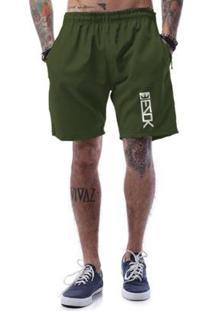 Bermuda Tactel Ezok Vertical - Masculino-Verde Militar