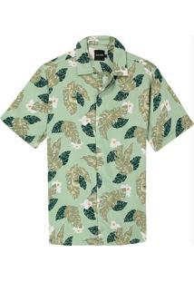 Camisa Verde Tradicional Tropical