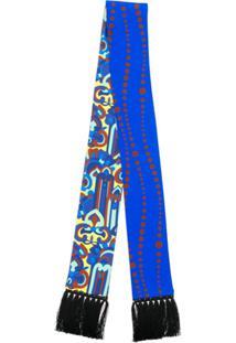 La Doublej Lenço Estampado Fino - Azul