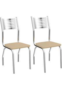 Kit Com 2 Cadeiras Kappesberg Munique Com Acabamento Cromado - 2C047Cr