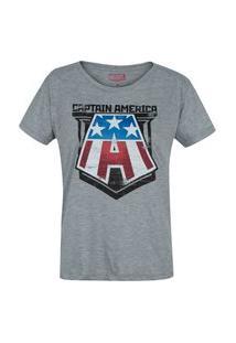 Camiseta Marvel Capitão América - Feminina