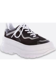 Tênis Feminino Chunky Sneaker Plataforma Recorte Zatz