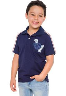 Polo Infantil Azul