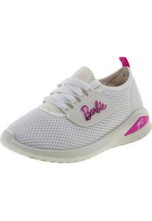 Clóvis Calçados. Tênis Infantil Feminino Barbie Glamour Branco Grendene Kids  ... 96ea418438