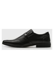 Sapato Social Ferracini Bico Quadrado Preto