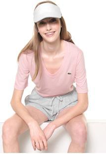 Camiseta Lacoste Lisa Rosa