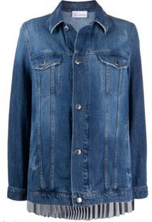 Redvalentino Jaqueta Jeans Azul