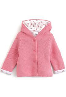 Casaco Gap Infantil Capuz Rosa - Tricae