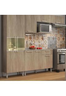 Cozinha Kit Star Aveiro Madeira 3Pçs Vidro C/ Tampo Itatiaia