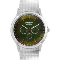 73339deed18 Vivara. Relógio Akium Masculino Aço ...
