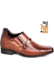 Sapato Social Couro Rafarillo Masculino Tressê Bridão Salto - Masculino