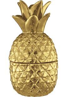 Pote Decorativo Abacaxi Dourado