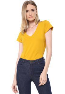 Camiseta Dudalina Lisa Amarela