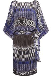 Vestido Bel Seda Cinza
